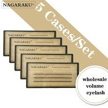 Nagaraku volume cílios maquiagem cílios 0.07c fãs 5 bandejas lote pré fabricado fãs de alta qualidade sintético vison cílios volume de maquiagem lash