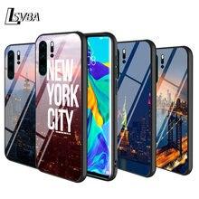 Черный чехол с Нью Йорком для huawei p smart z plus 2019 p40