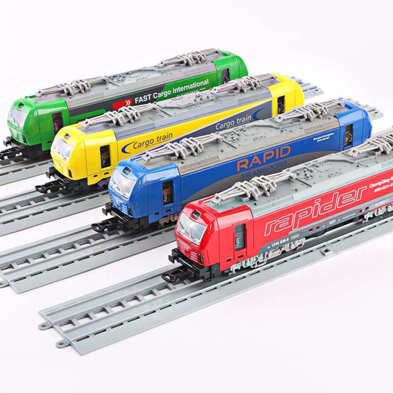 New 1/32 Alloy Pull Back Locomotive Model Toy Vehicle Door Colorful Light Music Tram Toys For Children(China)