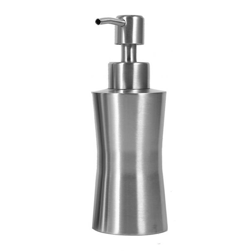 304 Stainless Steel Liquid Soap Dispenser Bathroom Shower Pump Lotion Dispenser Bottle Hand Sanitizer Holder 250Ml