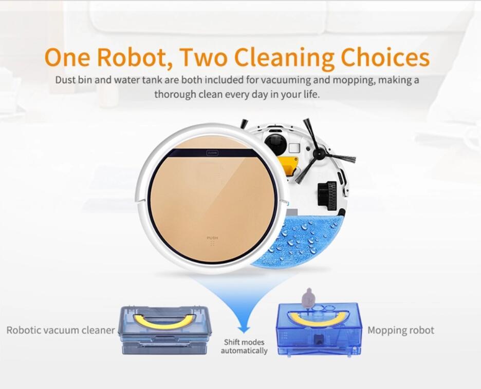 ILIFE V5S PRO Smart Robot Vacuum Cleaner  Wet and Dry  MOP Water Tank HEPA Filter,Ciff Sensor 2