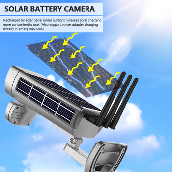 Wireless HD 1080P WiFi IPCamera Solar&Battery Power Bullet  PIR Motion Detection Waterproof Thunderproof Outdoor Security Camera 5