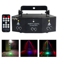 New RGB DMX Music Laser Xmas Led Luces Auto Sound Lighting Starry Sky Projector Lamp Light Christmas Disco Party Stage Projetor