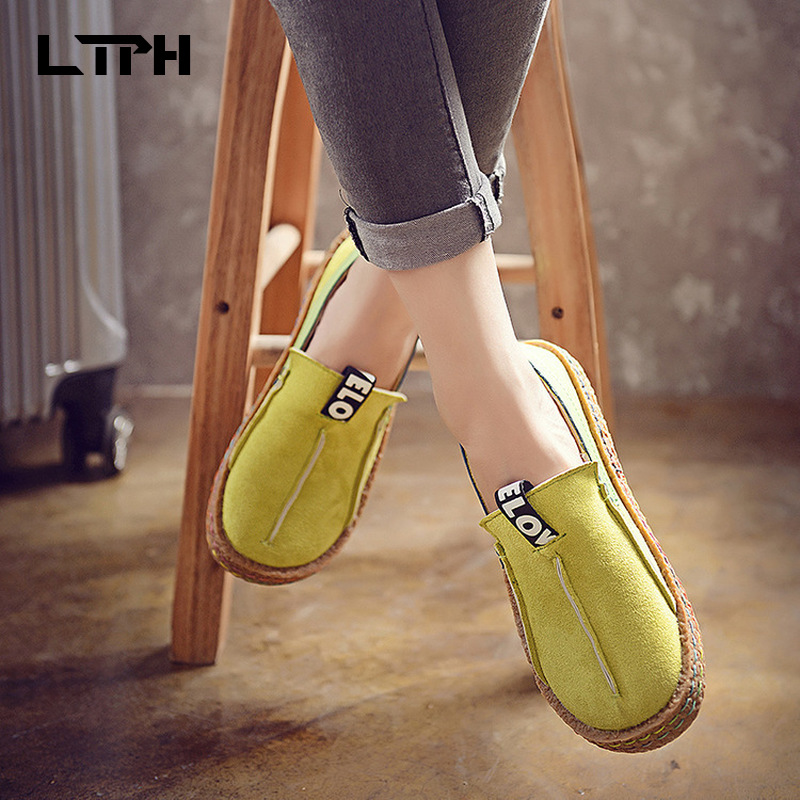 Designer Luxury 2020 New Single Shoes Women's Large Size Flat Bottoms Women's Shoes Round Head Comfortable LOVE Lazy Shoes