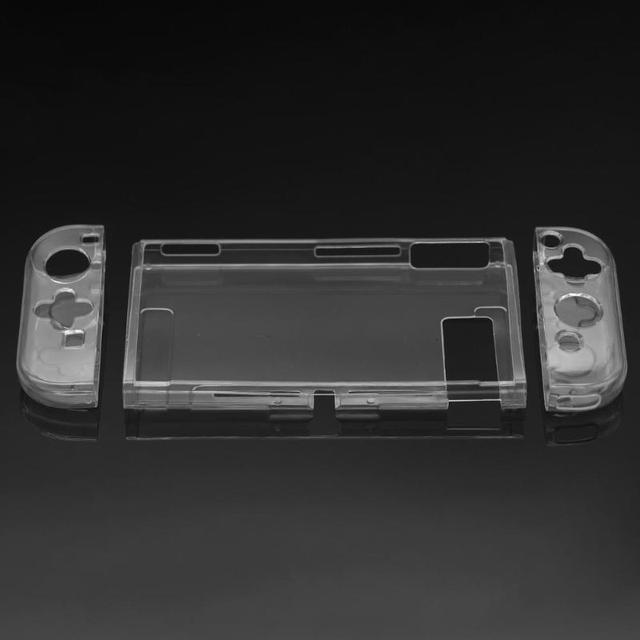 Funda protectora con carcasa suave de TPU de marco para Nintendo Switch, transparente, antigolpes