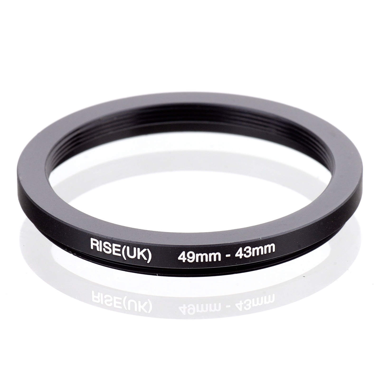 RISE(UK) 49mm-43mm 49-43 Mm 49 To 43 Step Down Filter Ring Adapter
