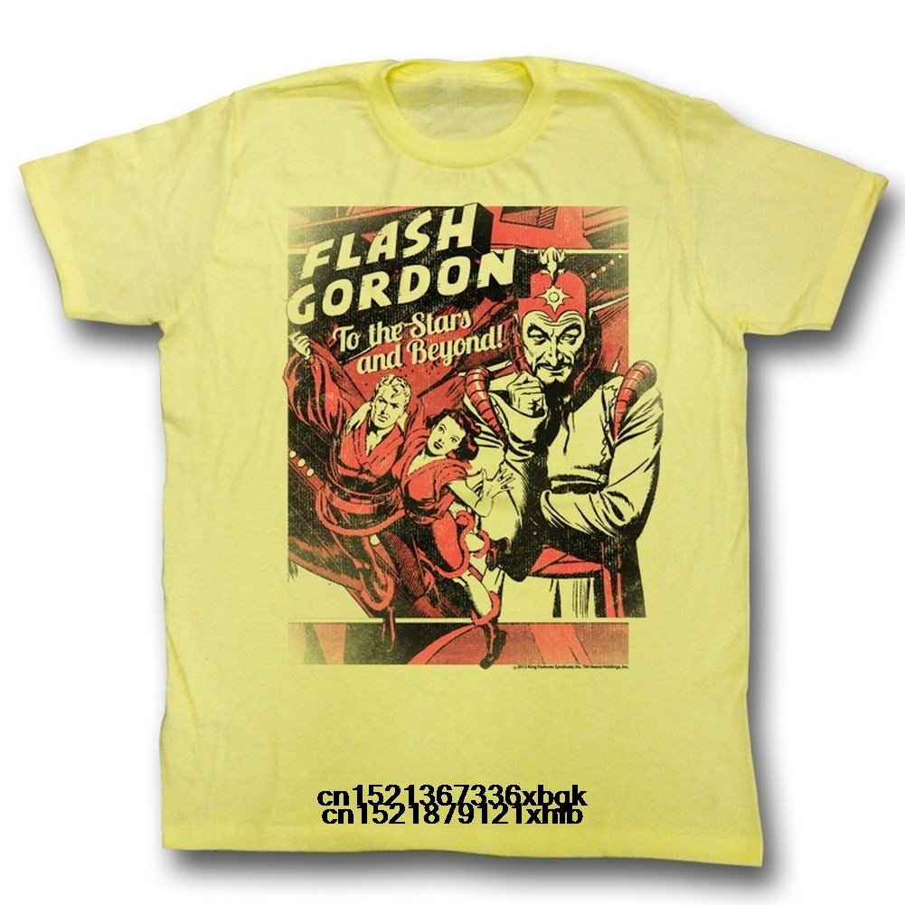 funny t shirt men novelty tshirt Flash Gordon T-Shirt - To the Stars(China)