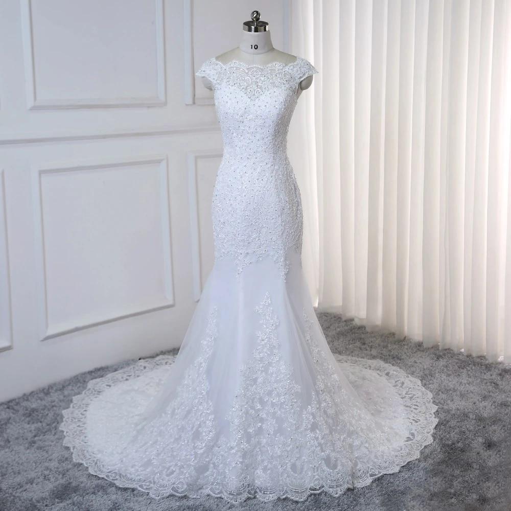 Vestido De Noiva White Mermaid Wedding Dress Lace Appliques Beads Vintage Wedding Gowns Plus Size China Bridal Gown Wedding Dresses Aliexpress
