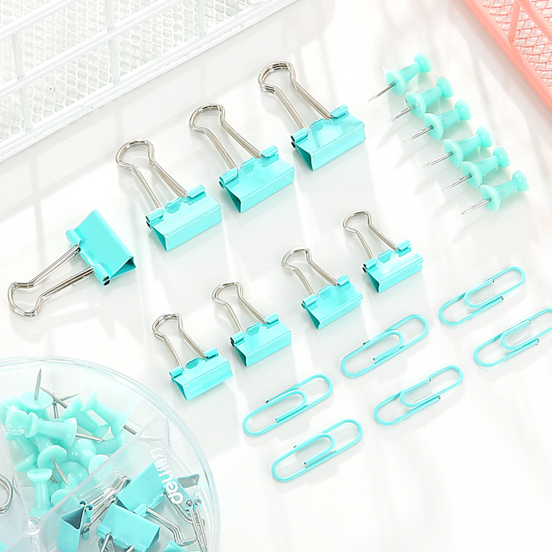72Pcs/Box Meati Paperclip Long Clip Push Pins For Office School Painting Drawing Art Supplies
