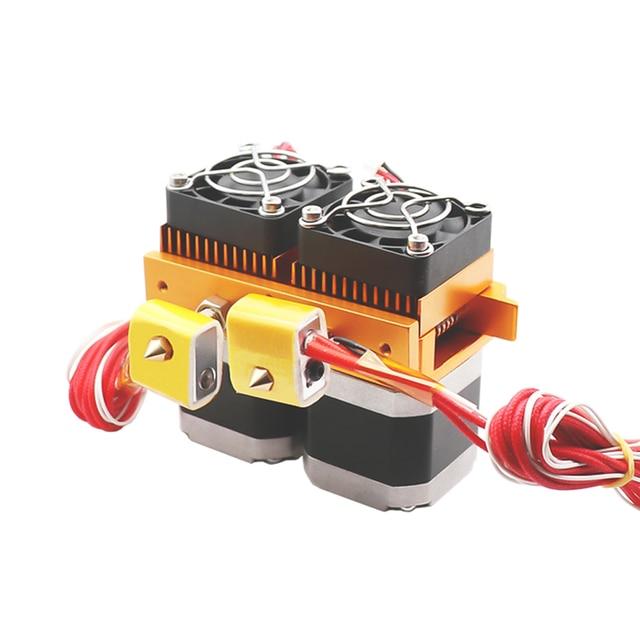 mk8 dual head extruder 12v/24v 40w 3d printer parts double hotend фотография
