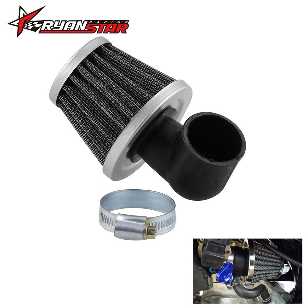 Air Filter 50cc 2 Stroke 90 Degree Bend Elbow 35mm zero resistance filter For Motorcycle ATV Pocket Bike Moto