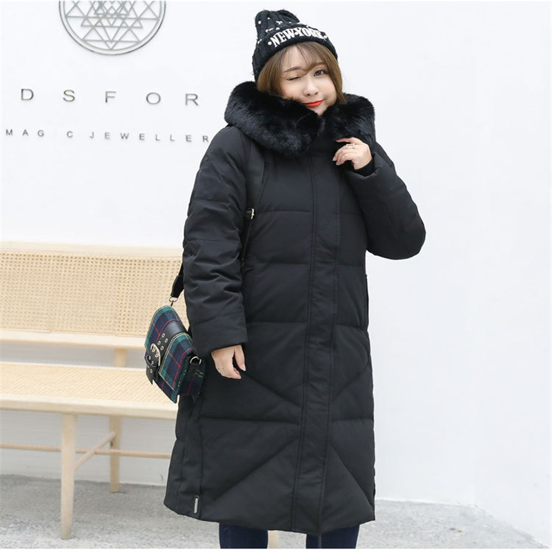 Plus Size XL-13XL Down Jacket Women Winter Parkas Thicken Hooded Coat 2019 New Female Super Large Size White Duck Down Coats 859