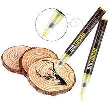 Caneta de queima de madeira queimado marcador canetas de pirografia para projetos diy ferramenta de ponta fina fácil uso e seguro