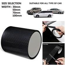 Carbon fiber Car Sticker Protector Strip Auto Body Nano Velcro Car Door Anti Scratch Collision Scuff DIY Paste Protection Film