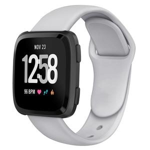 Image 2 - Ban Nhạc Dành Cho Fitbit Versa Dây Đeo Ngược Dây Khóa Thay Thế Vòng Đeo Tay Fitbit Versa Lite Dây Đeo Silicone Đồng Hồ Thông Minh Smartwatch Cổ Tay