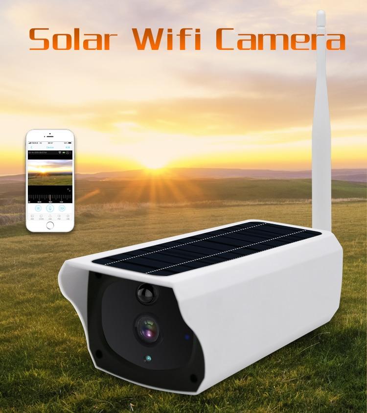 Gratis Verzending 2MP Zonne energie Camera 4G Sim kaart IP Bullet Camera Oplaadbare 4G Outdoor CCTV camera met 1080P Wifi Camera - 2
