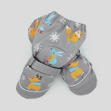 Winter New Children Print Cartoon Deer Rabbit Thickening Ski Gloves Kids Windproof Waterproof Non-slip Long-sleeved Mittens AXYA