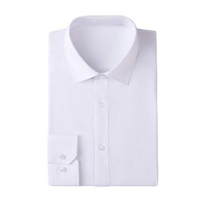 ¡Nuevo! Camisa Formal de manga larga para hombre con cuello de popelina extrafino de color blanco S ~ 6XL