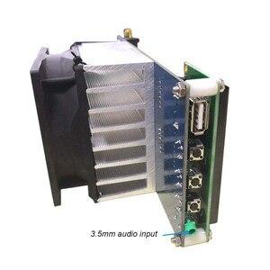Image 5 - 50W PLL FM Estéreo Transmissor 87.5 M 108 MHz Máximo até 70W LED Digital Portátil de Rádio estação com Ventilador Do Dissipador H4 002