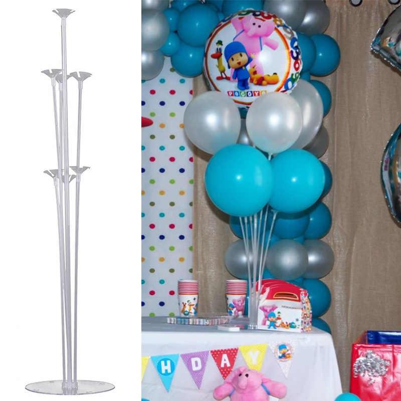 Pocoyo suporte de balão para festas, decoração de festa de aniversário infantil, produtos para chá de bebê recém-nascido, decoração descartável