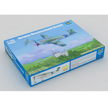Trumpeter 1/48 Scale 02849 German Messerschmitt Me509 Fighter Plane Airplane Aircraft Toy Plastic Assembly Display Model Kit daban 1 100 mg wing zero ew endless waltz xxxg 00w0 assembly model kit mobile suit not included display stand