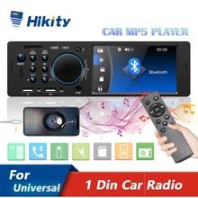 "Hikity 1 Din 4 ""Zoll Auto Radio Autoradio Stereo Kassette Video MP3 MP5 Auto Player FM Radio Auto Audio unterstützung Rückansicht Kamera"