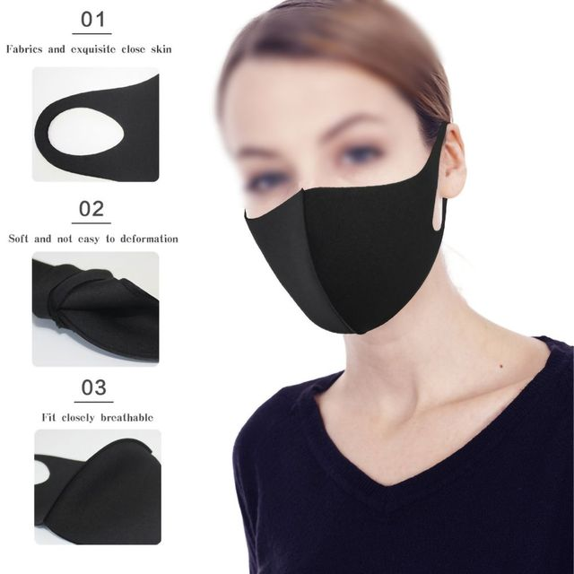 1pc Washable Unisex Universal Pollution Mask Anti Dust Flu Smoke Mask With Earloop Respirator Safety Mask