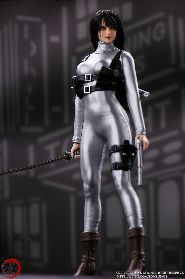 In Stock 1/6 Scale Sexy Tight Female crossover Bodysuit Leather Sliver Leotard Corsetry Clothes For 12 Action Figure Body image