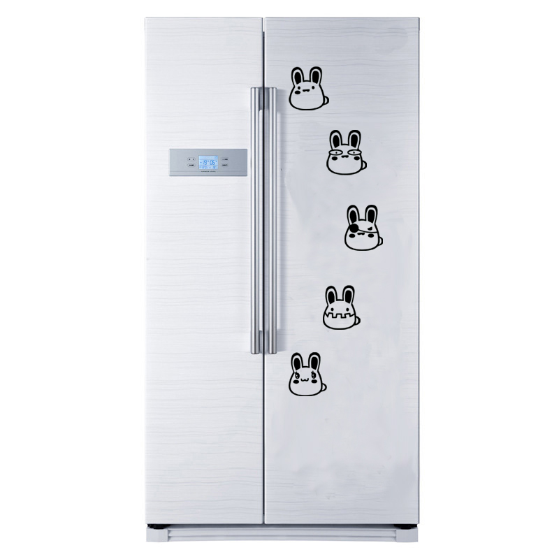 New Creative Animal Refrigerator Sticker Cartoon Rabbit switch Wall Stickers Home room Decoration Kitchen Wall Decor Art Mural in Wall Stickers from Home Garden