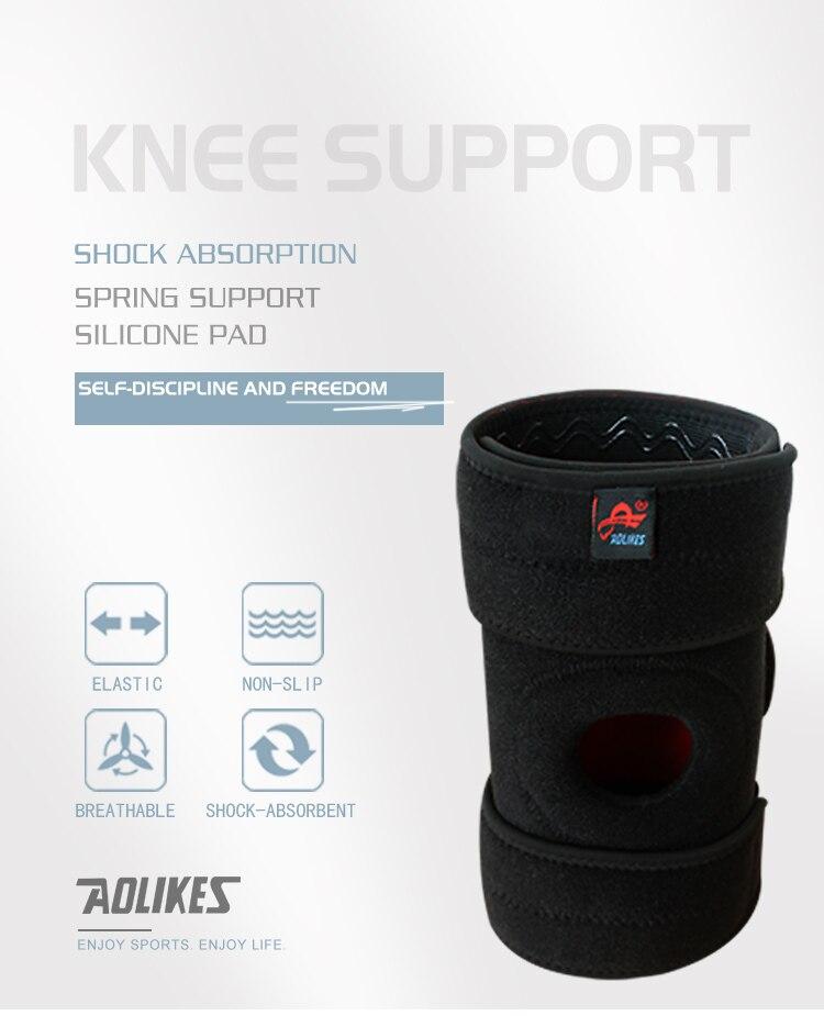 AOLIKES PC Patella Knee Brace Com Estabilizadores