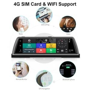"""Image 5 - WHEXUNE Dashcam DVR para coche 4G, 4 canales, ADAS, Android 10 """", consola central, espejo, GPS, WiFi, FHD, 2020 P, lente trasera, grabadora de vídeo, novedad de 1080"""