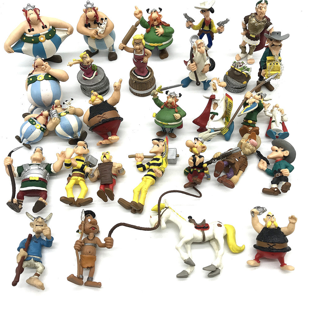 Cartoon The Adventures of Asterix PVC Figures Toys Gifts 6pcs//set 5~8cm kids