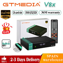 Receptor gtmedia v8x bulit-em wifi 1080p dvb-s/s2/s2x satélite receicver gtmedia v7 s2x com usb wif livre fta gtmedia v8 nova