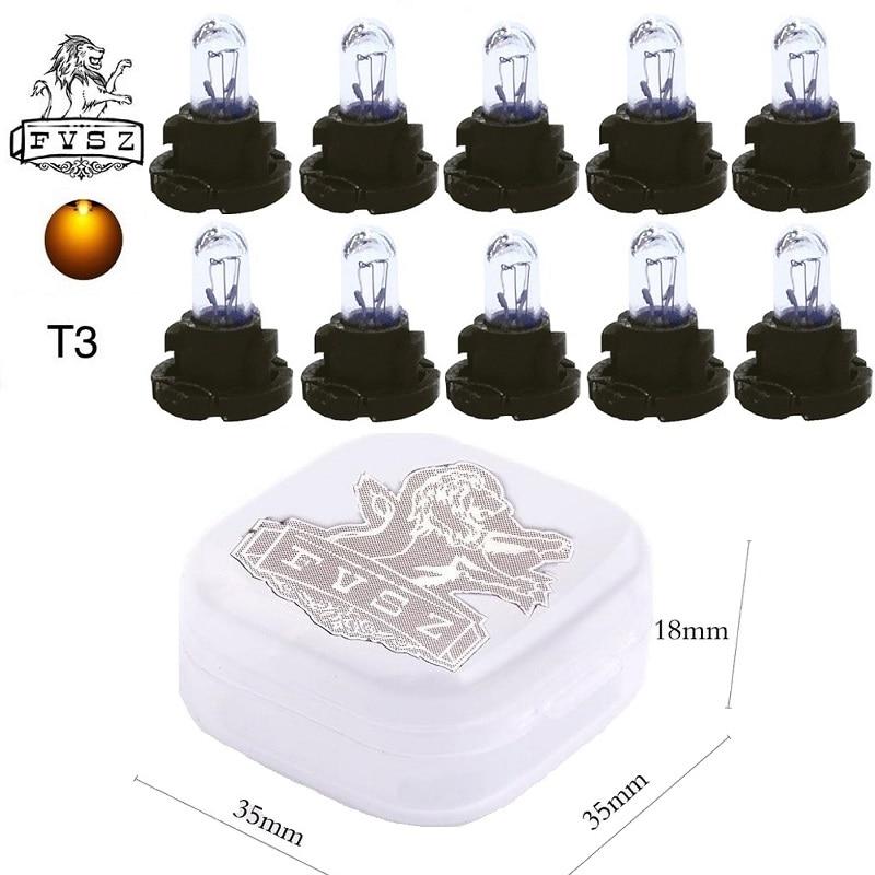 10 шт. T3 14 в 0,91 Вт лампочки для салона автомобиля, приборной панели 8 мм 12 В, снимают ярко-желтую лампу