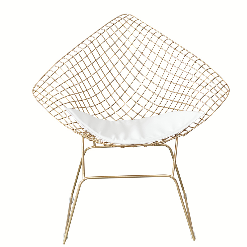 Nordic Wind Hollow Ins Personality Network Red Photo Iron Dining Chair Lazy Back Home Chair Gold Chair Single