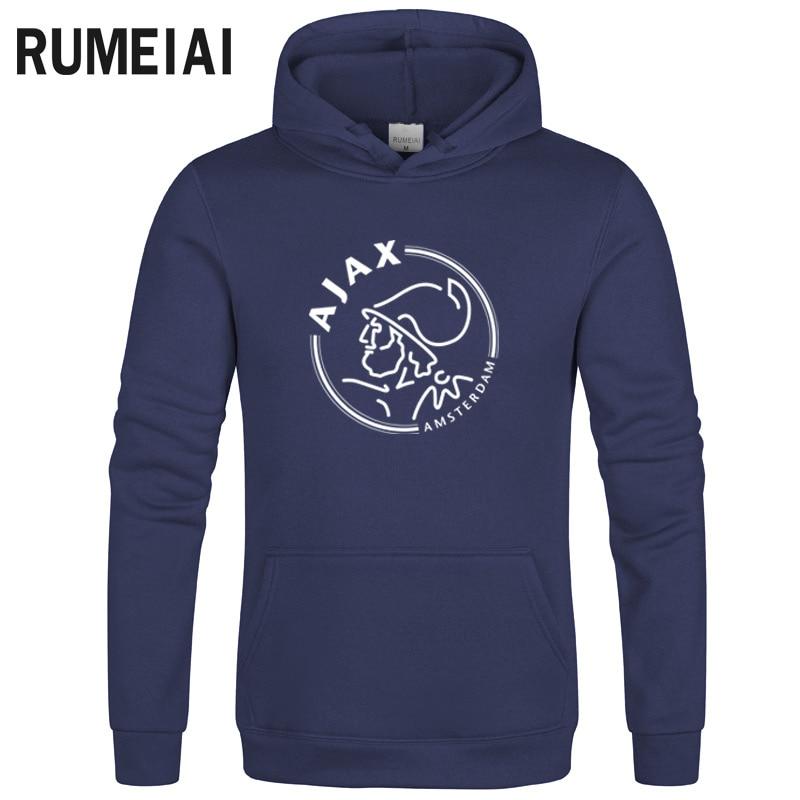 Ajax Hoodies Men's Thick Clothes Winter Sweatshirts Men Hip Hop Streetwear Solid Fleece Hoody Man Clothing