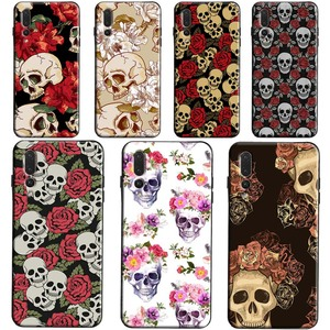 Skull With Roses Case for Huawei Honor 8X 9X 9 20 10 Lite 10i 7A Pro 7C 8A 8C 8S Y6 Y7 Y9 2019 Nova 5T