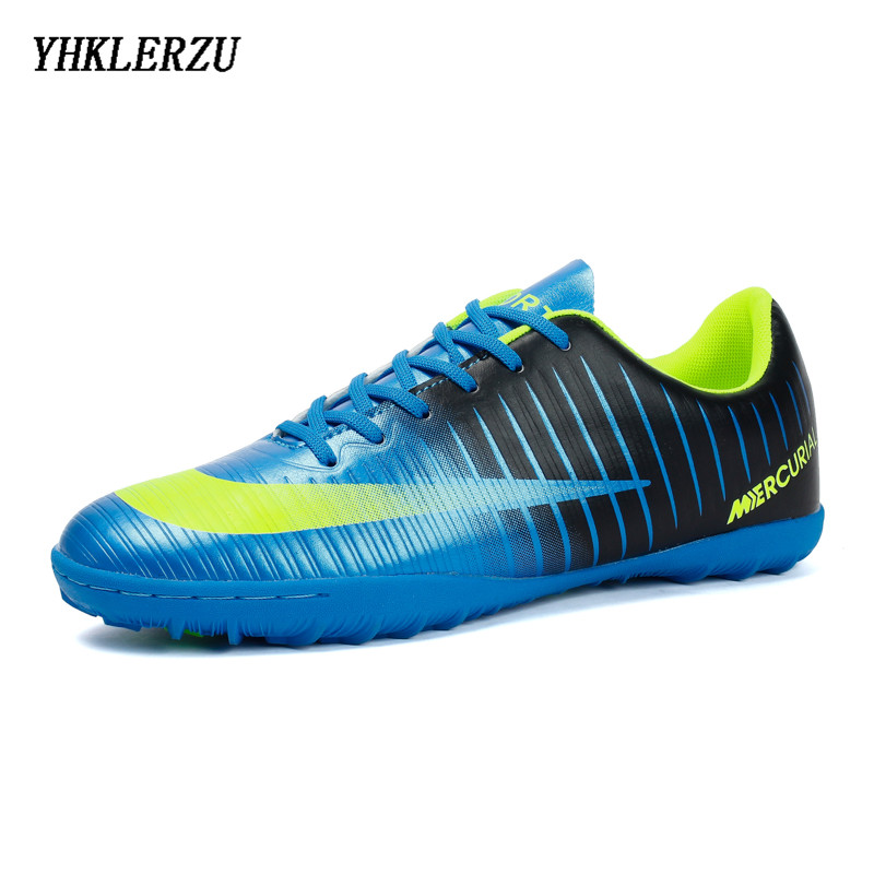 YHKLERZU Soccer Shoes For Men Kids Indoor Football Shoes Sneakers Turf Superfly Futsal Original Football Boots Comfortable Kraso