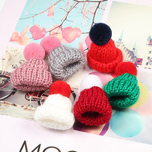Cute Mini Knitted Hat Brooch Colorful Wool Ball Pins for Women Sweater Jackets Lapel Pin Pompom Bag Badge Jewelry Christmas Gift(China)