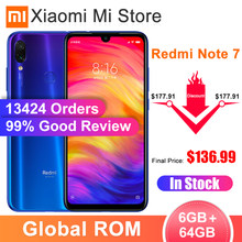 "In Voorraad Global Rom Xiaomi Redmi Note 7 6 Gb Ram 64 Gb Rom Smartphone Snapdragon 660 6.3 ""Scherm 48MP Achter Camera 4000 Mah Batterij(China)"