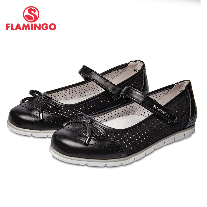 School shoes Flamingo 92T-XY-1462 shoes for girls leather insole shoes for children 31-36 # flamingo new children shoes spring