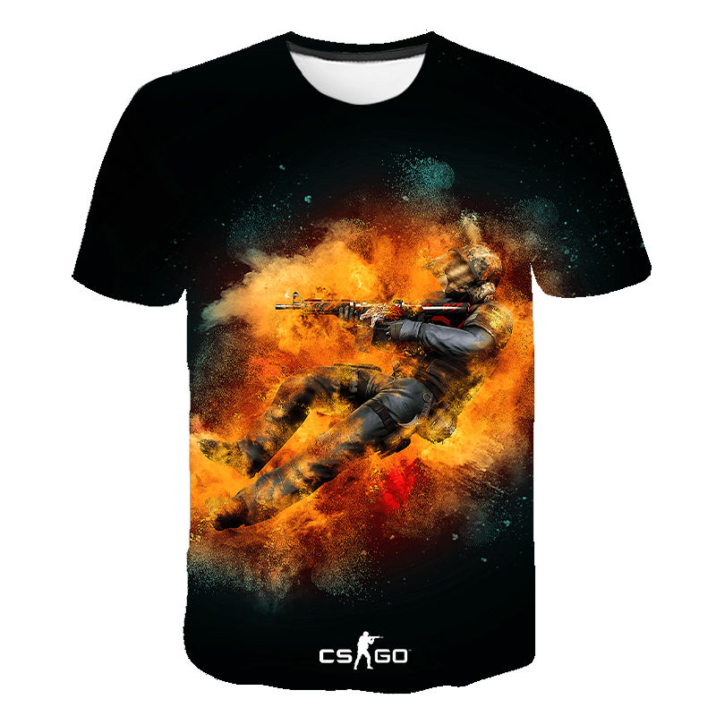 Cool CS GO Gamers New Csgo Men Women Children T-shirt 3D Print Short Sleeves T Shirt Summer Style Brand Tops Tees Clothing