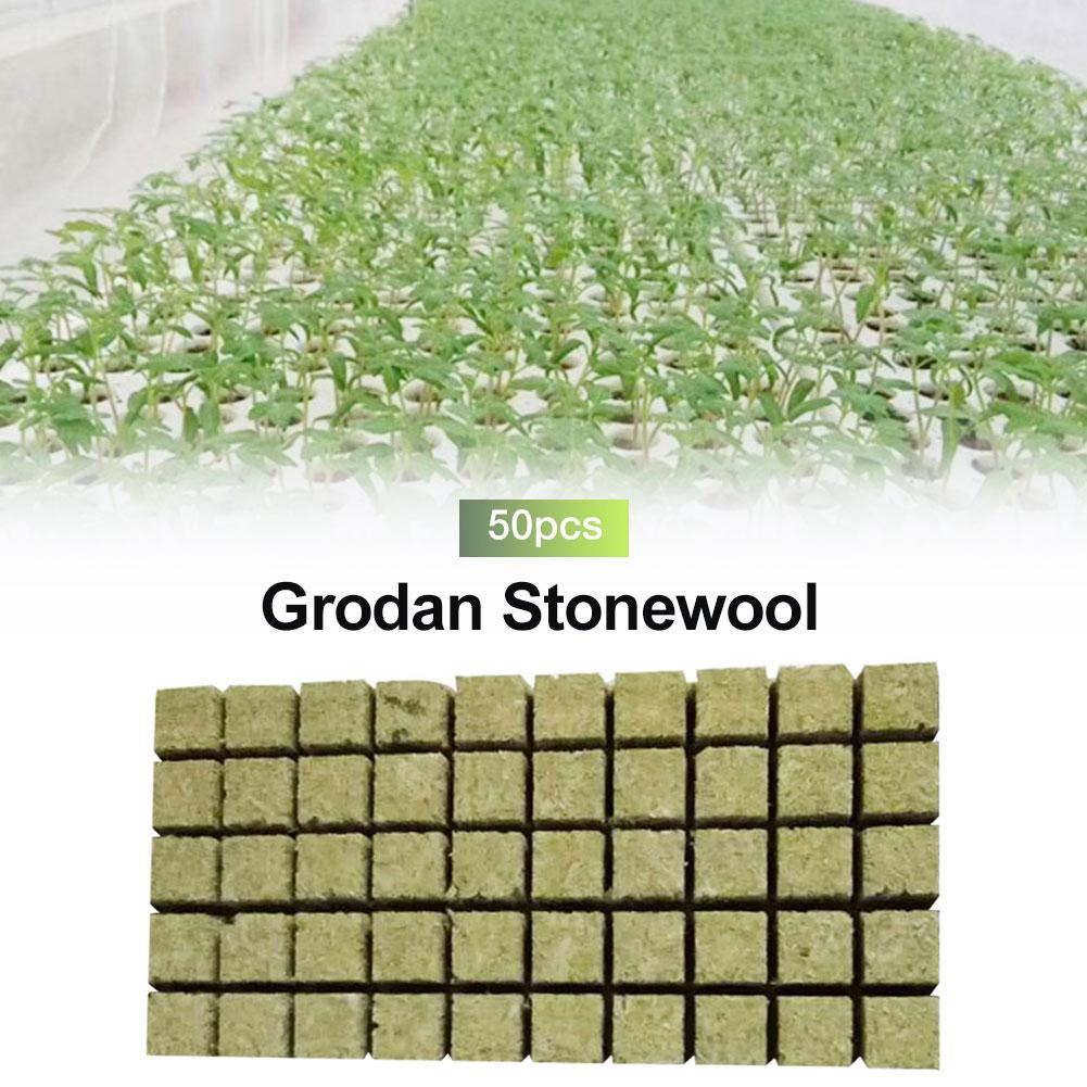New Imported Rock Wool Soilless Culture Substrate Agricultural Cutting Seedling Block Grodan Hydroponic Grow Media Propagation