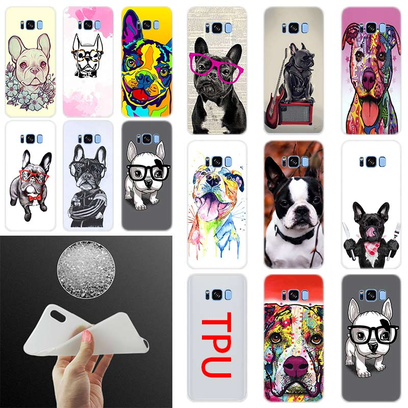 French Bulldog Dog Silicone TPU Cover Phone Case For Samsung S11 S10 S8 S9 Plus S7 S6 Edge Note 10 9 Funda S20 Phone Cases image
