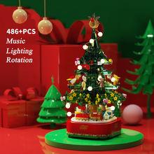 Новая модель рождественской елки строительные блоки вращающиеся