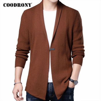 COODRONY Brand Cardigan Men Clothing 2020 Autumn Winter Streetwear Fashion Sweater Men Thick Warm Knitted Wool Sweatercoat C1161 coodrony brand sweater men zipper turtleneck cardigan men clothing autumn winter thick warm 100% merino wool sweater coat p3026