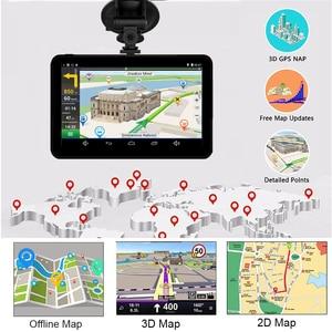 Image 3 - Anfilite H55 7 inch Capacitive Android car GPS Navigator Quad Core 16GB car DVR dash cam dual cameras 1080P record free maps