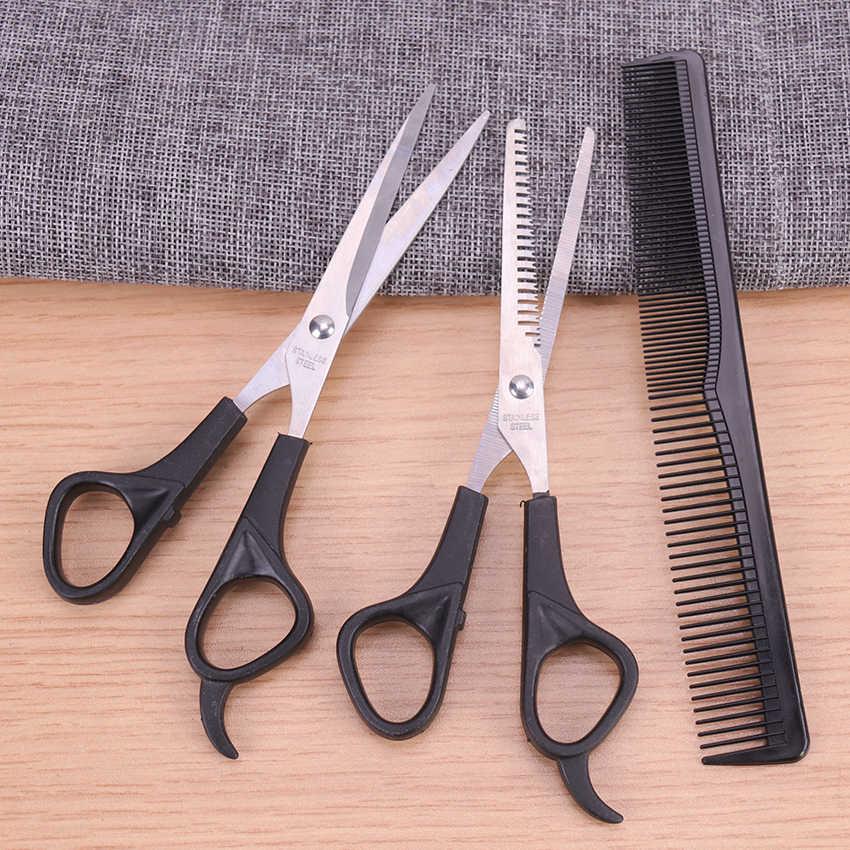 1 zestaw nożyce do cięcia włosów profesjonalny fryzjer wycinanie usuwanie włosów zestaw fryzjerski urządzenie do stylizacji grzebień fryzjerski