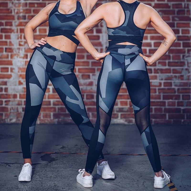 Mesh Patchwork Athleisure Leggings Women Hip Lift Leggings High Waist Slim Pants Long Trousers Women Fitness Leggings