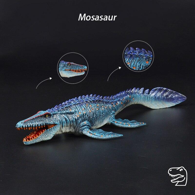 Brangdy Mosasaurus model dinosaur ornaments Neptune Plesiosaur figure hand-made doll children's toy boy and girl birthday gift